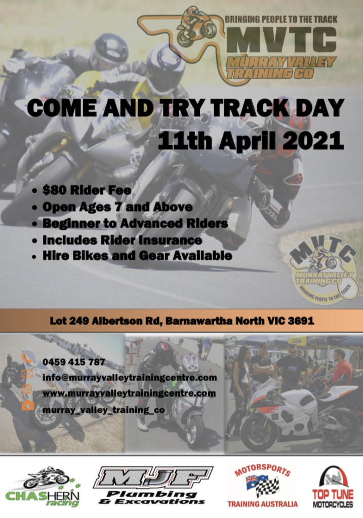 M.V.T.C April 11th Come And Try Day